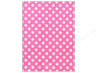 CPE Printed Felt 9&quot;x 12&quot; Polka Dot Pink (12 sheets)