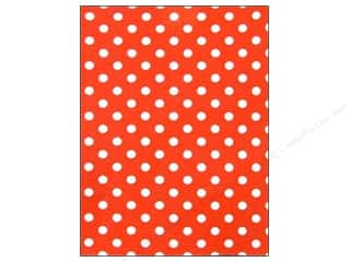 "Felt Sheets / Felt Squares: CPE Printed Felt 9""x 12"" Polka Dot Red (12 sheets)"