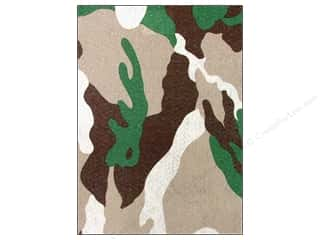 "Felt Sheets / Felt Squares: CPE Printed Felt 9""x 12"" Camo Brown (12 sheets)"