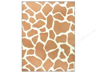 "Felt Sheets / Felt Squares: CPE Printed Felt 9""x 12"" Giraffe Brown (12 sheets)"