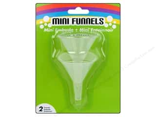 "Plastic Funnels: Darice Funnel Mini 1.5"" Clear 2pc"