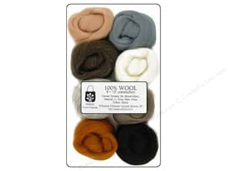Wistyria Editions: Wistyria Editions 100% Wool Roving 8pc Furry Friends