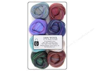 Wistyria Editions 100% Wool Roving 8pc Marbles