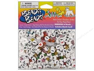 Darice Bead Beadie Beads Alphabet White 300pc