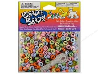 Beading & Jewelry Making Supplies: Darice Bead Beadie Beads Alphabet Pastel 300pc