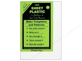 "Plastic / Acetate Sheets: Inglis Sheet Plastic for Quilters 14""x 20""- 25 pc (25 sheets)"