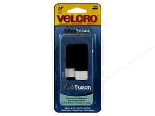 Velcro / Hook & Loop Tape Iron-On Velcro / Iron-On Hook & Loop Tape: Velcro Fabric Fusion Tape 3/4 x 24 in. Black