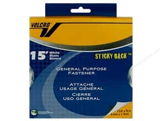 Brand-tastic Sale Steady Betty: Velcro Sticky Back Tape 3/4 in. x 15 ft. Bulk Box White (15 feet)
