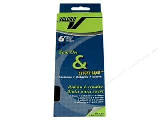 VELCRO brand Sew On &amp; Sticky Back 1&quot;x 6&#39; Black
