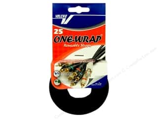 Velcro / Hook & Loop Tape: Velcro One Wrap Straps 1/2 x 8 in. Black 25 pc.