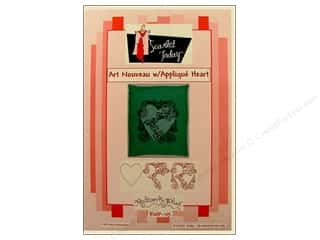 Clearance Jack Dempsey Decorative Hand Towel: Art Nouveau Applique Heart Pattern
