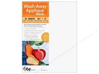 Irons Iron On Designs: C&T Publishing Wash-Away Applique Sheets 8 1/2 x 11 in. 25 pc.
