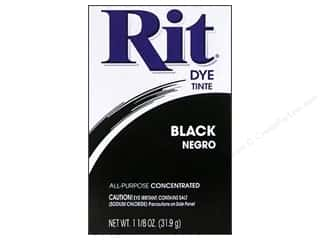 Rit Dye Powder: Rit Dye Powder 1 1/8 oz Black