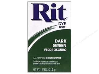 Rit Dye Powder: Rit Dye Powder 1 1/8 oz Dark Green