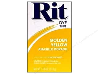 Rit Dye Stenciling: Rit Dye Powder 1 1/8 oz Golden Yellow