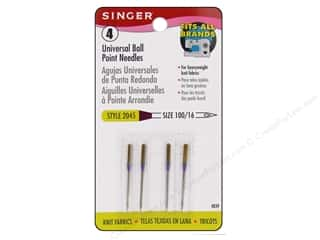 Klasse Needles Machine Ball Point Needles: Singer Machine Needle Ball Point Size 16 4pc