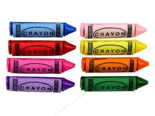 Crayons Scrapbooking: Jesse James Dress It Up Embellishments Button Fun Crayons