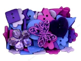 button: Jesse James Embellishments Color Me Purple