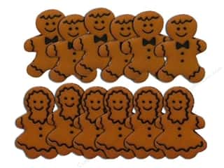 Craft Embellishments Size Metric: Jesse James Dress It Up Embellishments Gingerbread People