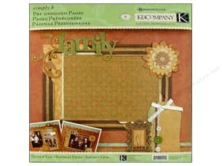 K&amp;Co Pages Pre Designed Simply K Ancestry