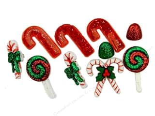 School Craft Embellishments: Jesse James Dress It Up Embellishments Christmas Collection Candy Striped Christmas