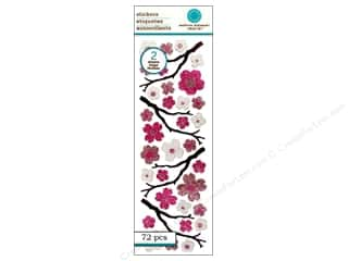 Martha Stewart Sticker Glittered Cherry Blossom