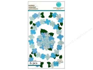 Martha Stewart Sticker Pansies Blue