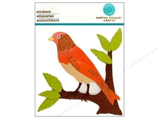 Martha Stewart Sticker Orange Bird on a Branch