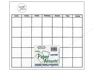 Paper Accents Calendar Page 12x12 White Plastic1pc