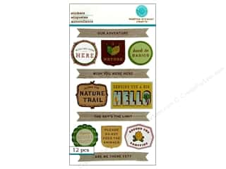 martha stewart: Martha Stewart Sticker Woodland Phrases