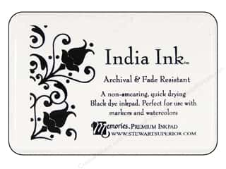 S Superior Memories India Ink Inkpad Large Black