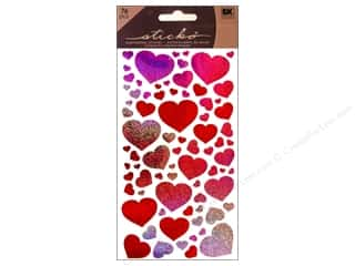 Valentines Day Gifts Stickers: EK Sticko Stickers Metallic Blissful Hearts