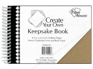 "Scrapbook / Photo Albums Chipboard Embellishments: Paper Accents Create Your Own Keepsake Book 6.5""x 4.5"" 25pg Chipboard Cover"