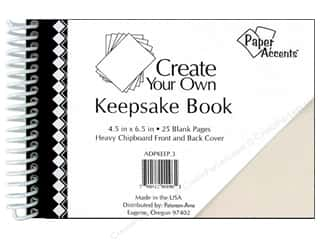 "picture $5 - $6: Paper Accents Create Your Own Keepsake Book 6.5""x 4.5"" 25pg White Cover"
