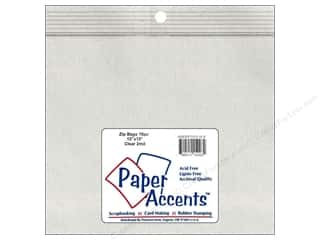 "Paper Accents Bag Zip 13""x 13"" 10pc 4mil Clear"