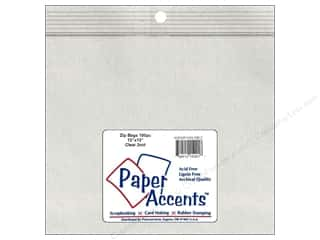 Organizers G.T.Zip Bags Plain 2mil 100 pc: Paper Accents 2 Mil Zip Bags 13 x 13 in. Clear 100 pc.