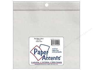 Organizers G.T.Zip Bags Plain 2mil 100 pc: Paper Accents 4 Mil Zip Bags 13 x 13 in. Clear 100 pc.