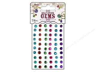 flat back rhinestone: Darice Self Stick Gems 5mm Round Vibrant