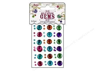 Darice Self Stick Gems 3&amp;10mm Round Vibrant
