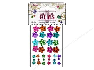 Darice Self Stick Gems Flowers/Round Vibrant