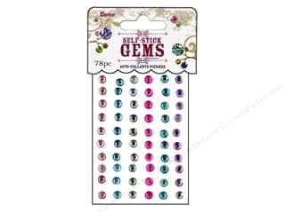 Darice Self Stick Gems 5mm Round Periwinkle