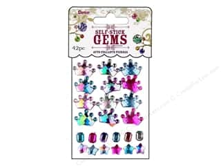 Darice Self Stick Gems Tiara/Stars Periwinkle