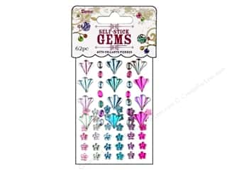 flat back rhinestone: Darice Self Stick Gems Flourish/Flower Periwinkle