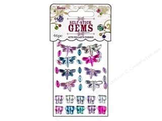 Darice Self Stick Gems Butterfly/Dragonfly Periwinkle