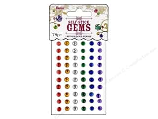 Darice Self Stick Gems 5mm Round Primary