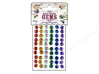 Darice Self Stick Gems 7mm Round Primary