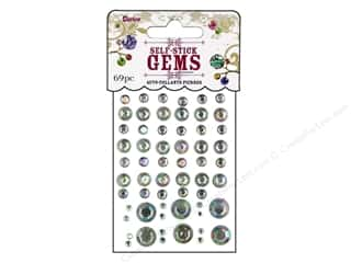 Rhinestones: Self-Adhesive Rhinestones by Darice Assorted Round Clear Aurora Borealis 69 pc.