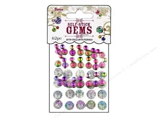 Darice Self Stick Gems Assorted Round Holo AB