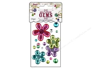 ICE Resin Scrapbooking: Darice Stick On Rhinestones Gems Large Assorted Flower Ice Cream