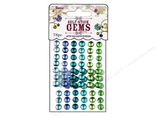 Darice Stick On Rhinestones Gems 7mm Rnd Go Green